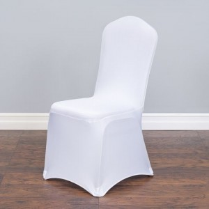 Happy moments_ White Stretch Chair Cover