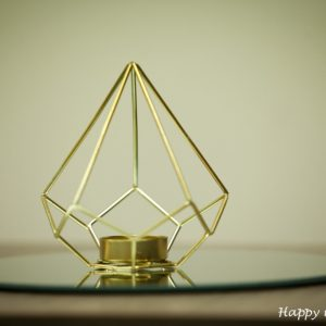 Happy moments- Geometric candle holders