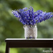 Happy moments_ decorative jar with lace (1)