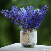 Happy moments_ decorative jar with lace (2)