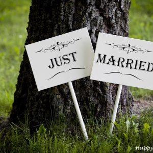 """Таблички """"Just Married"""""""