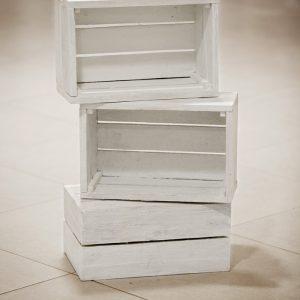 Деревянные ящики белые